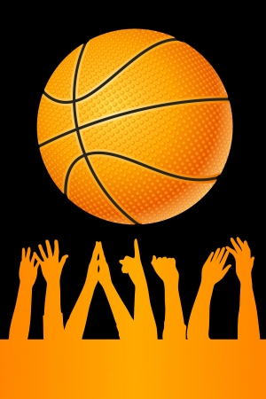 Vector basketball background Vector