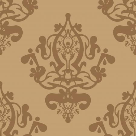 tapet: Vector beige wallpaper Illustration