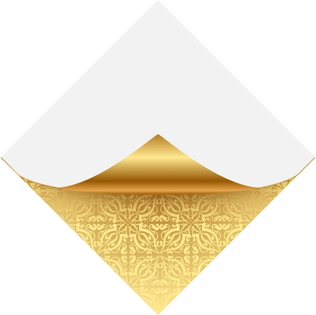 Gold ornate note paper Stock Vector - 13834790