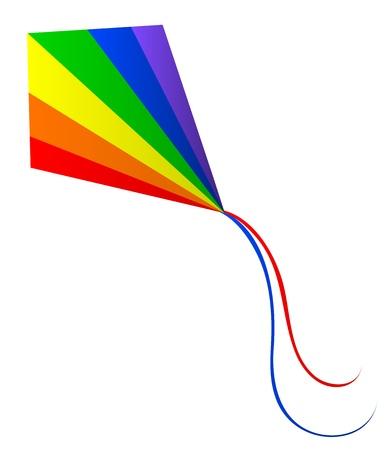 rainbow flag: illustration of kite