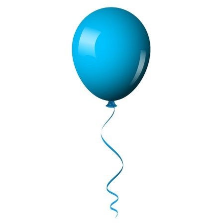 baby blue: Vector illustration of blue shiny balloon
