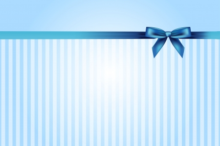 Vector blue background with bow Vector