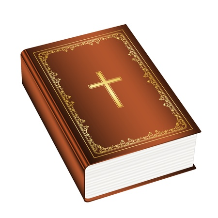 gold cross: Vector illustration of the Holly Bible