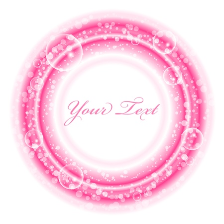 pink bubbles: Vector frame with pink bubbles