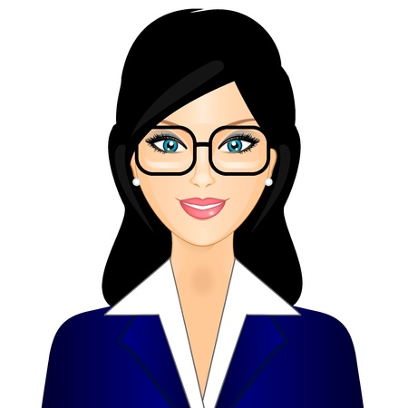personalities: Vector illustration of businesswoman Illustration