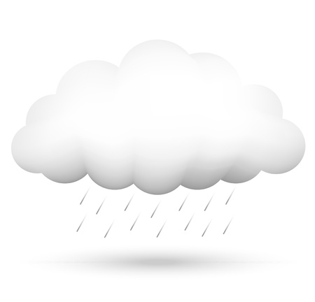 Vector illustration of cloud and rain Vector