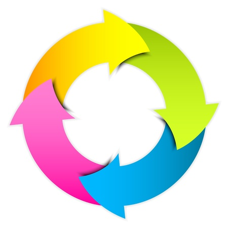 Vector colorful arrows circle Vector