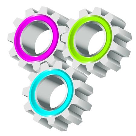 Vector illustration of cog wheels Vector