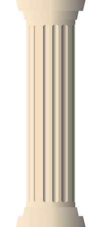 pillar: Vector illustration of column