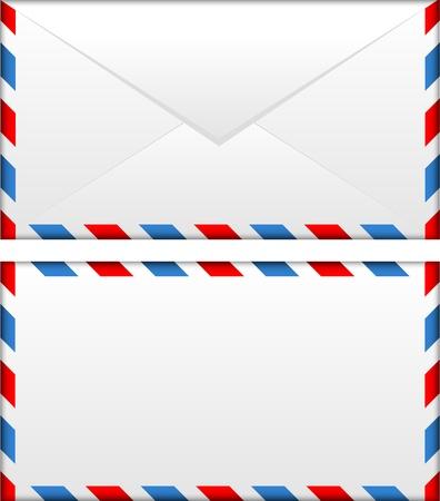 enveloppe ancienne: Vector illustration de l'enveloppe par avion Illustration