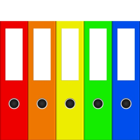 files: Vector illustration of colorful binders