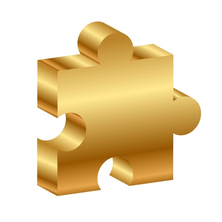 Vector illustration of puzzle - 3d Stock Vector - 14181354