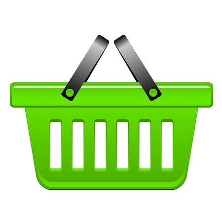 Vector illustration green basket Vector