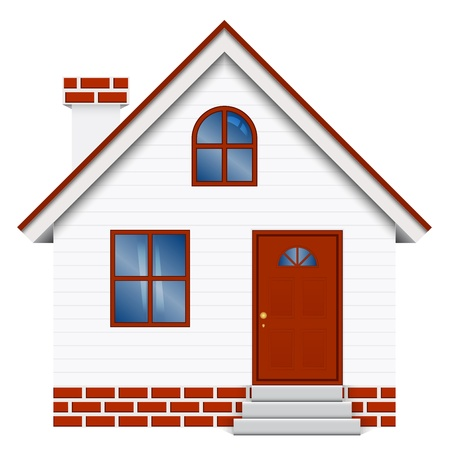 real estate agent: Vector illustration of house