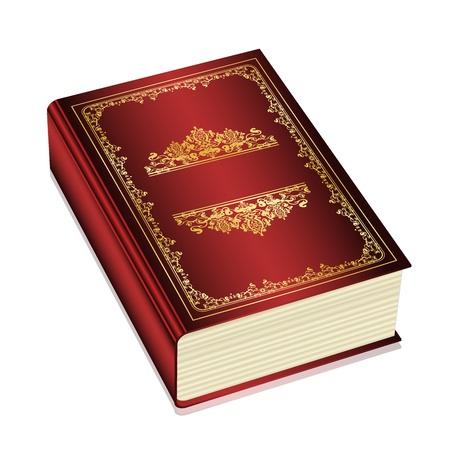 copertina libro antico: Vector - libro con spazio per il testo