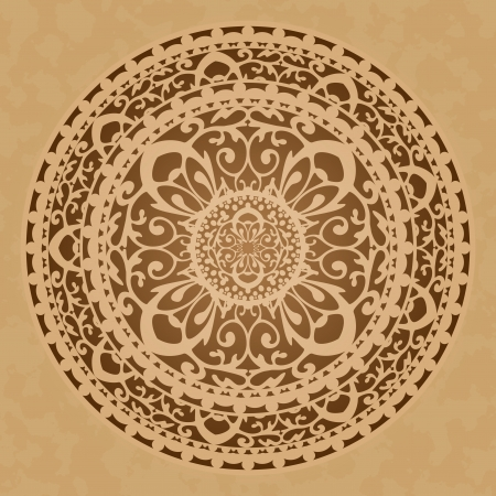 oriental rug: Vector illustration of oriental decoration