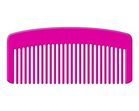 Illustrazione vettoriale di pettine rosa