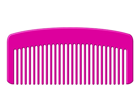 hairbrush: Vector illustration of pink comb