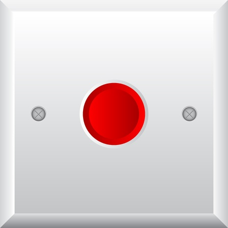 Vector illustration of red button Vector