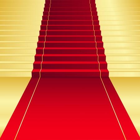 gagnants: Vecteur de fond avec tapis rouge Illustration