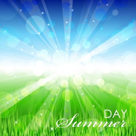 Summer day - Vector background Stock Vector - 14194614
