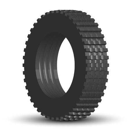 four wheel drive: Vector illustration of tire