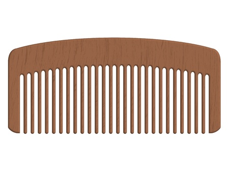hairbrush: Vector illustration of wooden comb