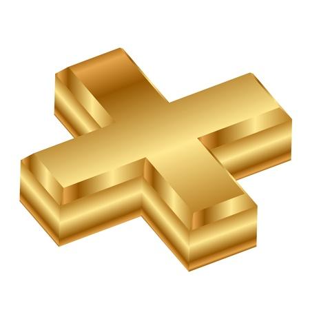 signos matematicos: 3d icono más Vectores