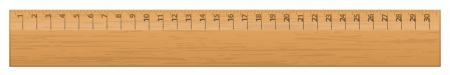 cm: illustration of wood ruler