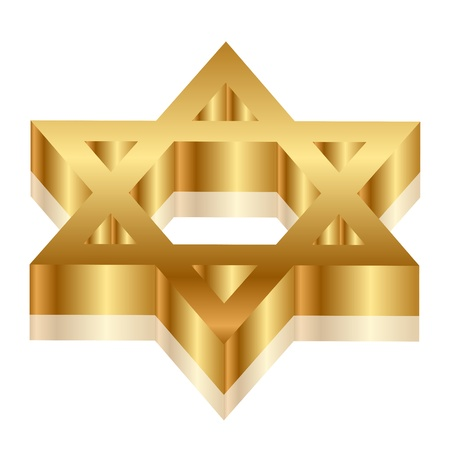 jewish star: 3d illustration of Magen David  star of David