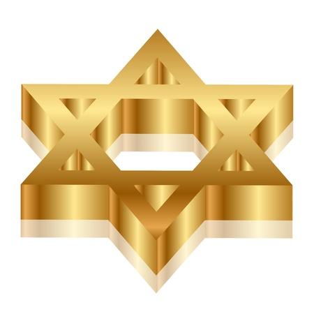 estrella de david: 3d ilustraci�n de Magen David Estrella de David Vectores