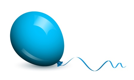 Vector illustration of blue balloon Vector