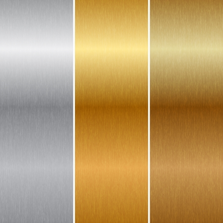 brushed aluminum: texturas de metal Vectores