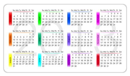 calendar 2013 Stock Vector - 14646076