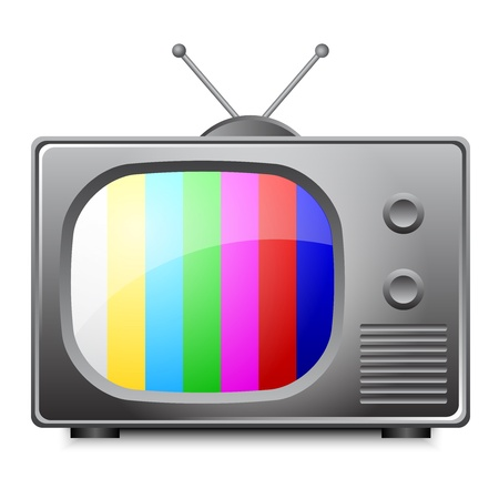 old television: illustration of old television