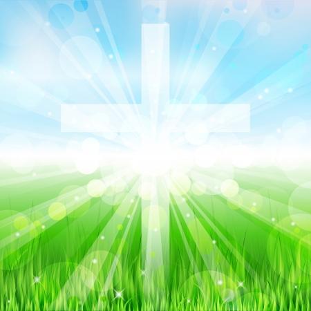 resurrección: Ilustración cruz