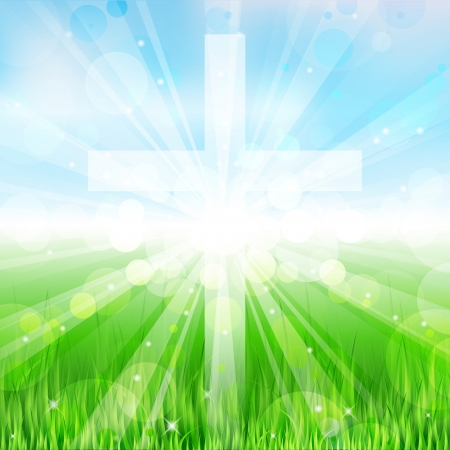 resurrecci�n: Ilustraci�n cruz