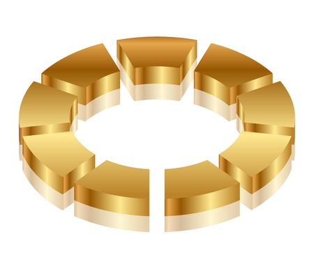 Vector illustration of gold cycle icon Stock Vector - 14646055