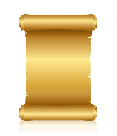 gold treasure: Vector illustration of gold scroll