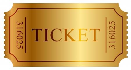 cinema old: illustrazione del biglietto d'oro