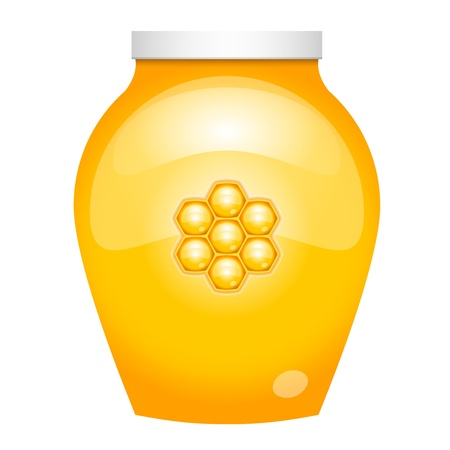 apiculture: illustration of honey Illustration