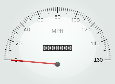 illustration of a speedometer Vector