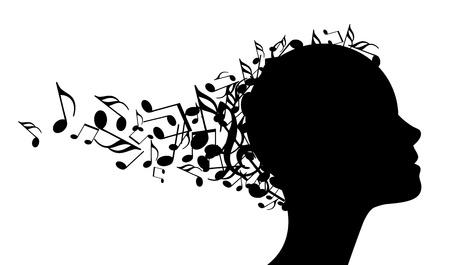 tocando musica: m�sica cabeza Vectores