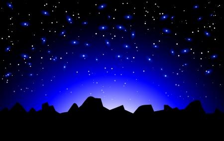 's nachts ruimte landschap Vector Illustratie