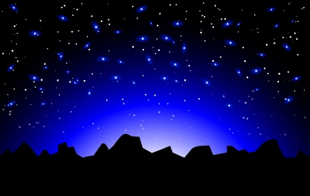 night space landscape Stock Vector - 14646123