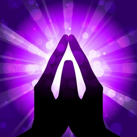 aura: Darstellung des Gebets Illustration