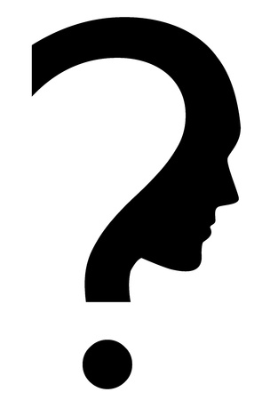icon of question mark with face Vector