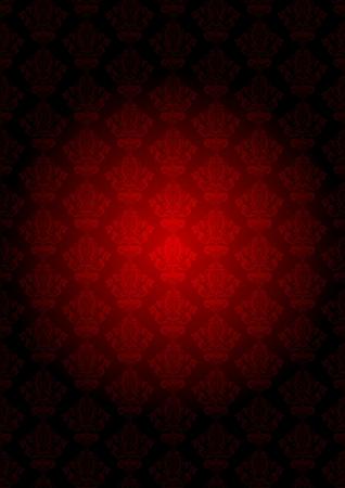 tapet: vintage red wallpaper