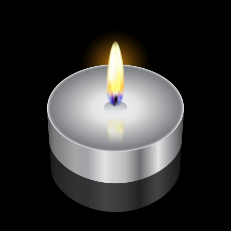 condolence: illustration of candle