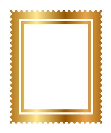 letras doradas: ilustración del sello de oro aislado